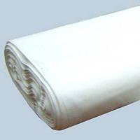Ткань бязь белая 120 г/м2, хлопок 100%, рулон.