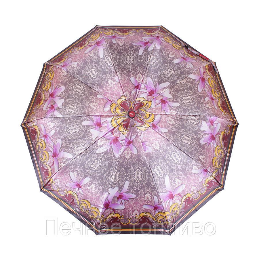 Зонт складной автомат Розовый