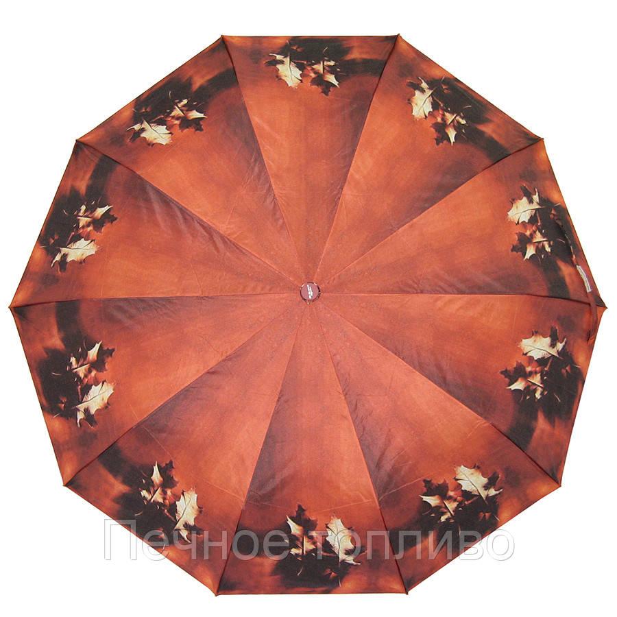 Зонт складной полуавтомат Листья