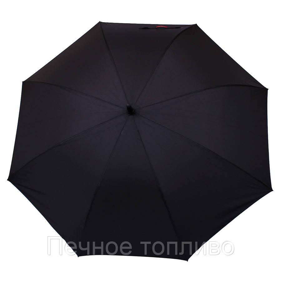 Зонт-трость полуавтомат Черный
