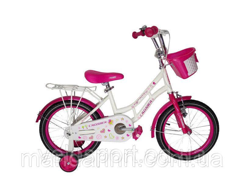 Велосипед дитячий MERMEID CROSSER-8 16 дюймів. Малиновий