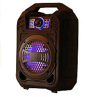 Bluetooth портативная колонка чемодан B13 (BL,USB,SD,FM, AUX),сеть/акк, светомузыка, микрофон, звукозапись, фото 1