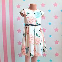 Детское платье Розы с тонким ремешком для девочки размер 110, 116, 122 см