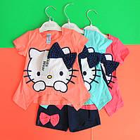 Летний костюм футболка и шорты Китти размер 92-98 см 92