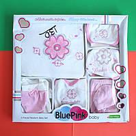 Набор на выписку из роддома для новорожденного девочки Цветы 11 предметов