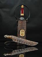 """Винный подарочный набор для мужчины """"Wine set"""" - с ножом из н/ж или дамасской стали (под заказ)"""