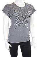 Женская футболка 7113  Черный, 52