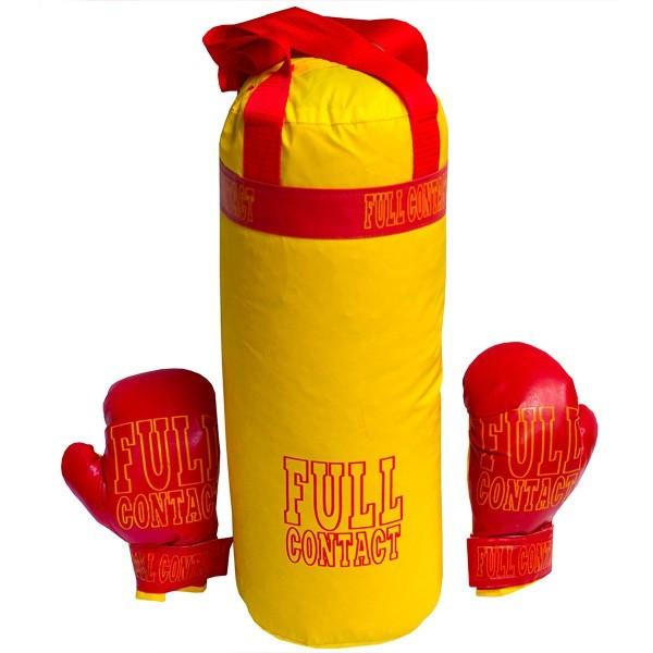 Боксерський набір Великий, Груша з рукавичками, в пакеті, Full Contact, Danko toys