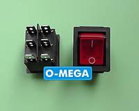 Кнопочный выключатель, Клавиша широкая, с подсветкой с фиксацией 28,5х22,0 мм, фото 1