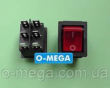 Кнопочный выключатель, Клавиша широкая, с подсветкой с фиксацией 28,5х22,0 мм