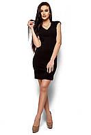 Стильное платье короткое по фигуре короткий рукав черное