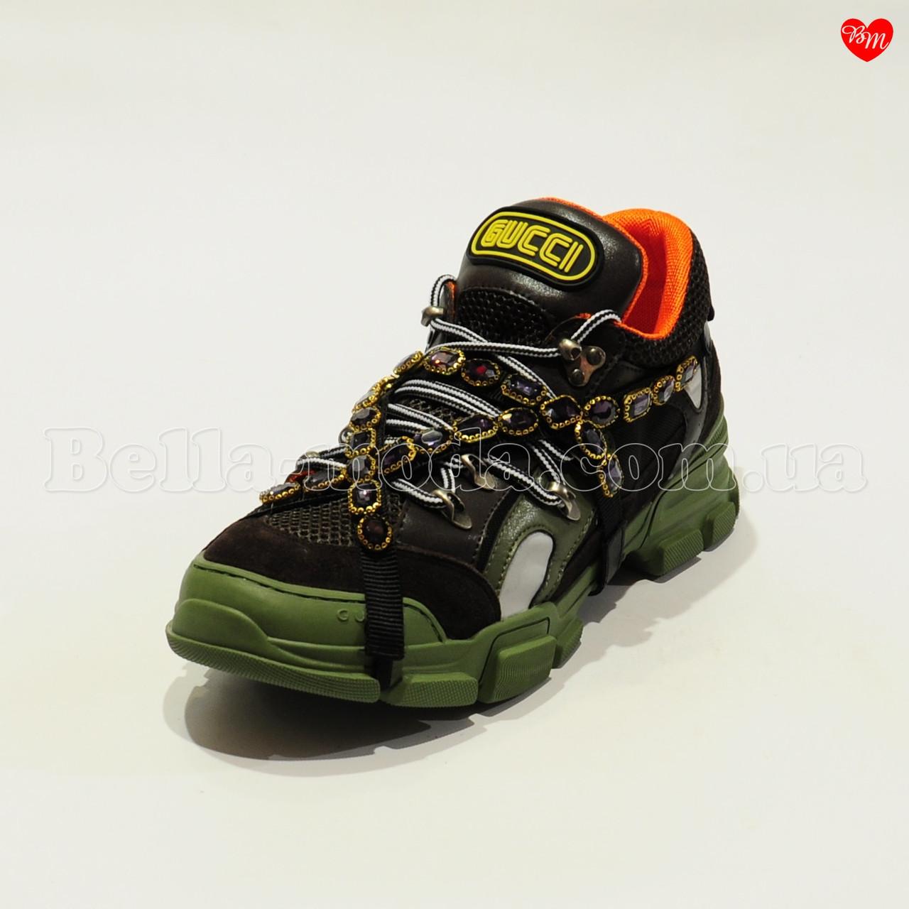 Купить Женские кроссовки камни на ремешке Gucci в розницу от ... 80151fae97b