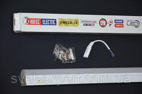 Світильник лінійний 90см SMD LED 12W 6400К 898Lm 220-240v, фото 2