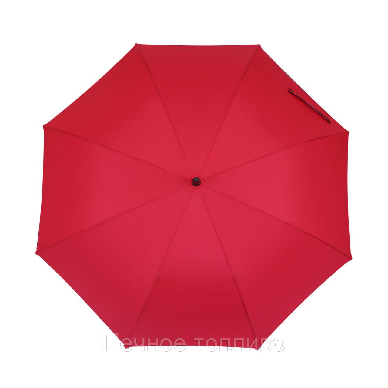 Зонт-трость полуавтомат Красный