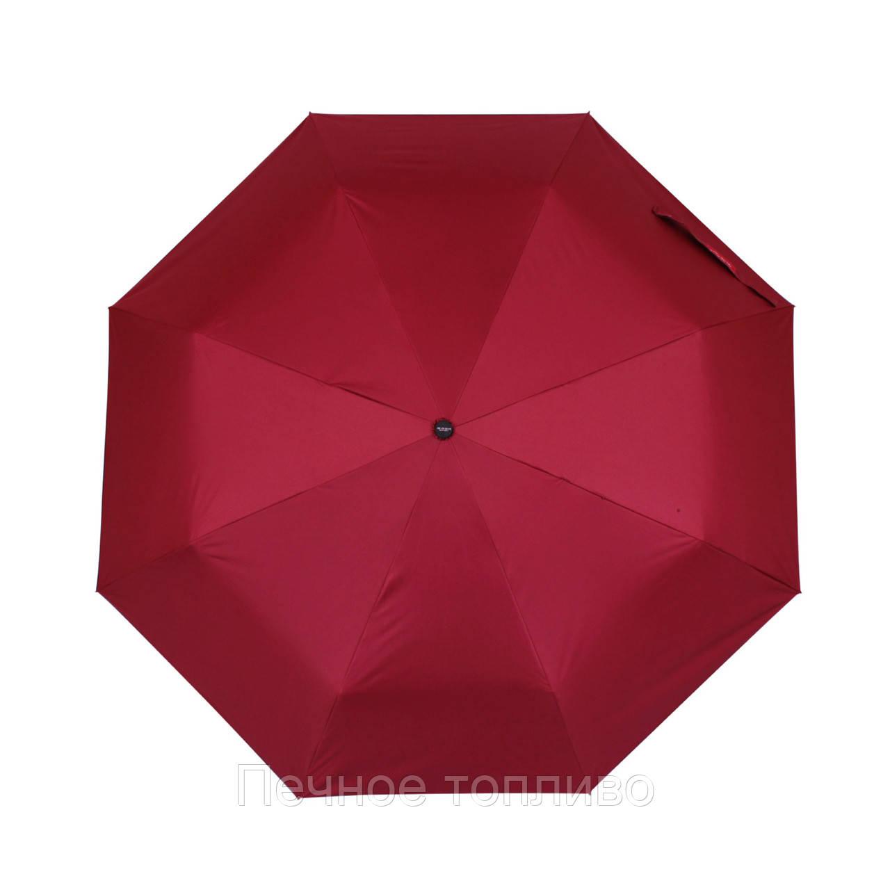 Зонт складной механический Бордовый