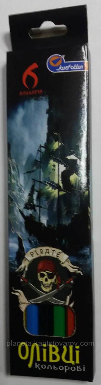 """Карандаш 6цв. """"Пират"""""""