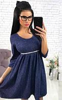 Платье женское ангоровое расклешенное  аан1141, фото 1