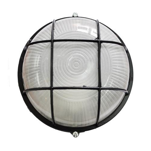 Светодиодный светильник MAGNUM MIF 012 60Вт под лампу с цоколем Е27 с решеткой черный ЖКХ