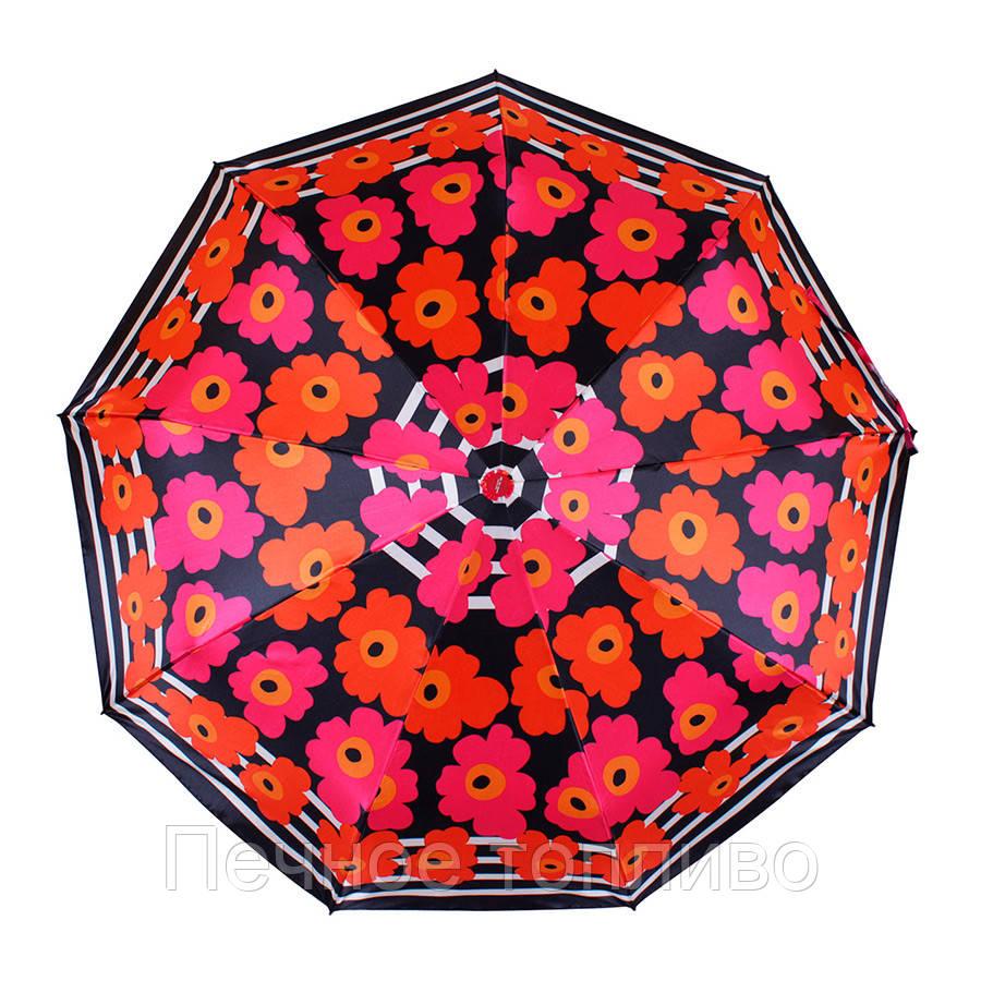 Зонт складной автомат Цветы