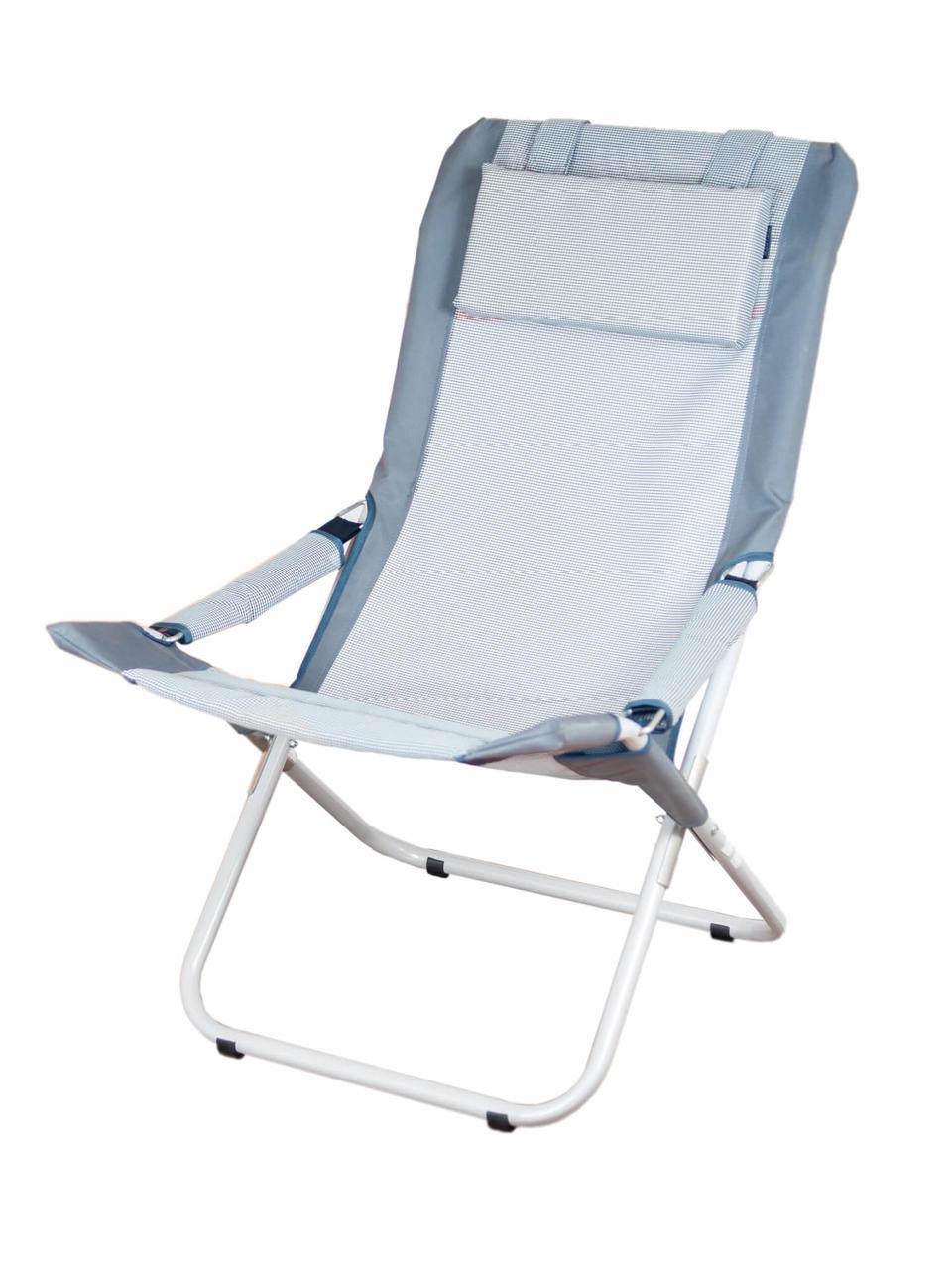 Шезлонг розкладний Comfort 2 Grey сірий до 140 кг