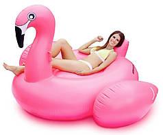 Надувной матрас Розовый Фламинго 190 см