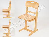 Стул буковый Универсал. Высота сиденья может быть установлена на одном из 6 уровней. Удобная форма спинки и сиденья обеспечивает