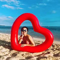 Надувной круг Сердце 120 см