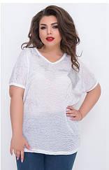 Летняя женская футболка, батал, Турция,  699