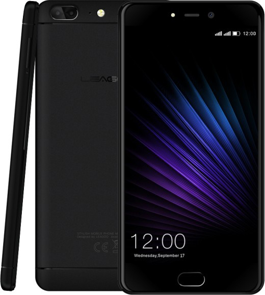 "Смартфон Leagoo T5 4/64Gb Black, 13+5/13Мп,5.5"" IPS, 3000mAh, 2sim, MT6750T, 8 ядер, 4G(LTE), GPS"