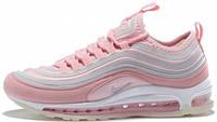 Женские кроссовки Nike Air Max 97 Ultra '17 Rose/White (Найк Аир Макс 97) в стиле розовые