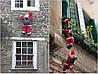 """Новогодний Санта на лестнице 50""""78-декор для вашего дома"""
