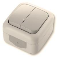 Viko Palmiye  Выключатель 2-х клавишный крем