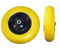Колесо полиуретановое BudMonster 4,0*8 (01-005)o/d= 16 желтое