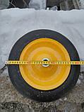 Колесо литое усиленое BudMonster 14*4 (01-008) o/d= 20 желтое, фото 4