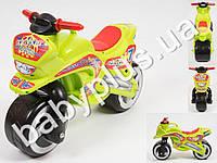 Каталка спортивный мотоцикл. Цвет салатовый