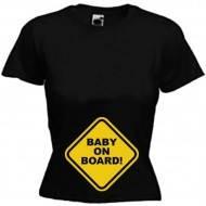 "Футболки для беременных ""Baby on board"""