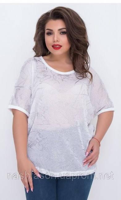 Летняя женская футболка, батал, Турция,  698