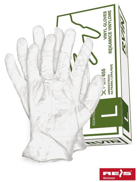 Перчатки медицинские виниловые Reis RVIN T(L) (100шт)