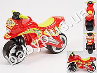Каталка спортивный мотоцикл. Цвет красный