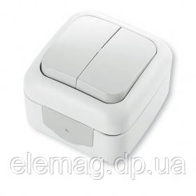 Viko Palmiye  Выключатель 2-х клавишный белый