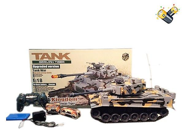 Радиоуправляемые игрушки, детский танк, на аккумуляторе, +звуковые эффекты. Игровой танк р/у 2868-1.