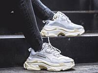 Женские кроссовки 36, 40 размеры Balenciaga Triple-S Light Gray/White, фото 1