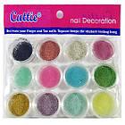 Набор Акриловых Цветных Бульонок Cuttie для Ногтей, 12 баночек, фото 3