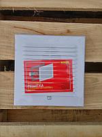 Вентиляционная решетка с защитной сеткой и двойным креплением 180*180 жалюзи