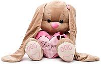 Мягкая игрушка Jack & Lin Зайка Лин с сердечком 25 см