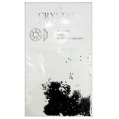 Хрустальные Кристаллы Крошка Pixie Черные, Набор 1440 шт.