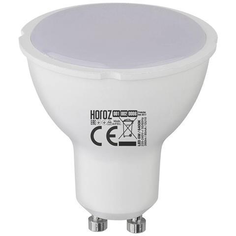 "Лампа светодиодная Horoz Electric ""PLUS-6"" 6W 6400K GU10"