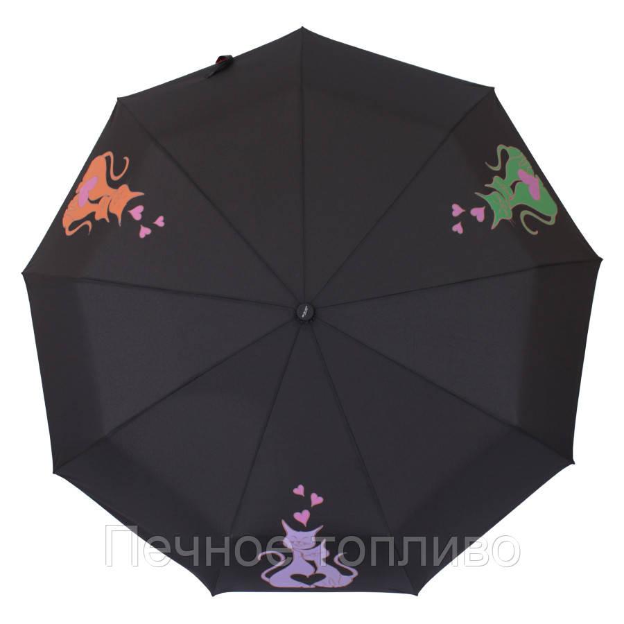 Зонт складной  автомат  Котики