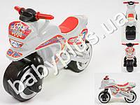 Каталка спортивный мотоцикл. Цвет белый