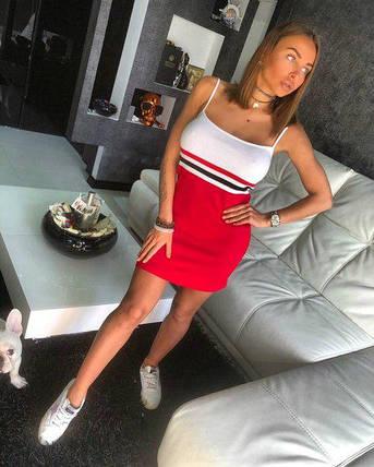 013b8a792a7 Короткое платье на тонких бретелях из хлопковой пряжи 42-44 р - Цена ...